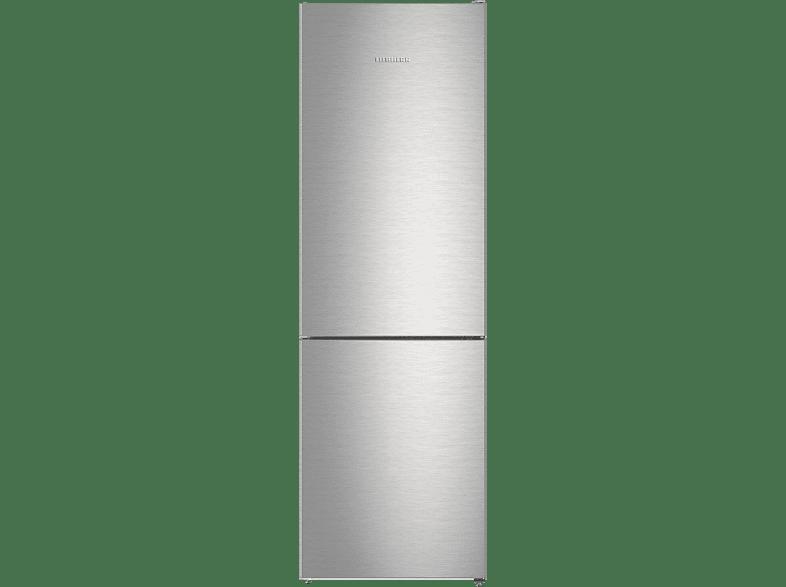 LIEBHERR CNPef 4313  Kühlgefrierkombination (A+++, 160 kWh/Jahr, 1861 mm hoch, Edelstahl/Silber)
