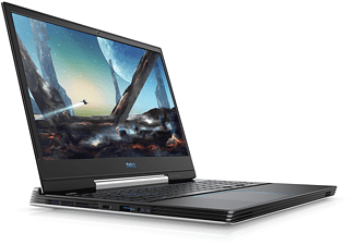 DELL G5 5590, Gaming Notebook mit 15,6 Zoll Display, Core™ i7 Prozessor, 8 GB RAM, 1 TB HDD, 128 GB SSD, GeForce® RTX™ 2060, Schwarz, Weiß