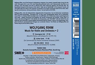 Tianwa Yang, Deutsche Staatsphilharmonie, Darrell Ang - Gesungene Zeit/Lichtes Spiel/Coll'Arco  - (CD)