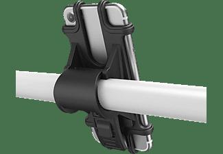 HAMA Fahrradhalter für Smartphones mit 6-8 cm Breite und 13-15 cm Höhe, Schwarz