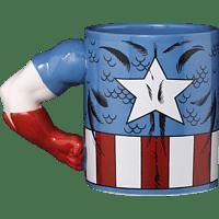 AMS Captain America Tasse 3D Arm Tasse, Mehrfarbig