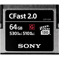 SONY CFast 2.0 64GB, Compact Flash Speicherkarte, 64 GB, 530 MB/s