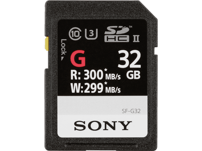 SONY SF-G SDHC Professional 32GB Class 10 UHS-II, SDHC Speicherkarte, 32 GB, 300 MB/s