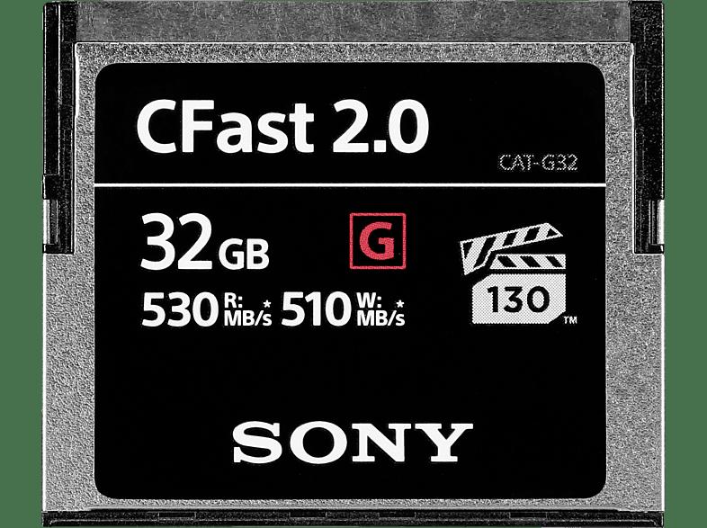 SONY CFast 2.0 32GB, Compact Flash Speicherkarte, 32 GB, 530 MB/s
