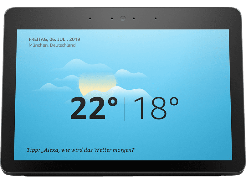 AMAZON Echo Show (2. Gen.) Smart Speaker, Schwarz