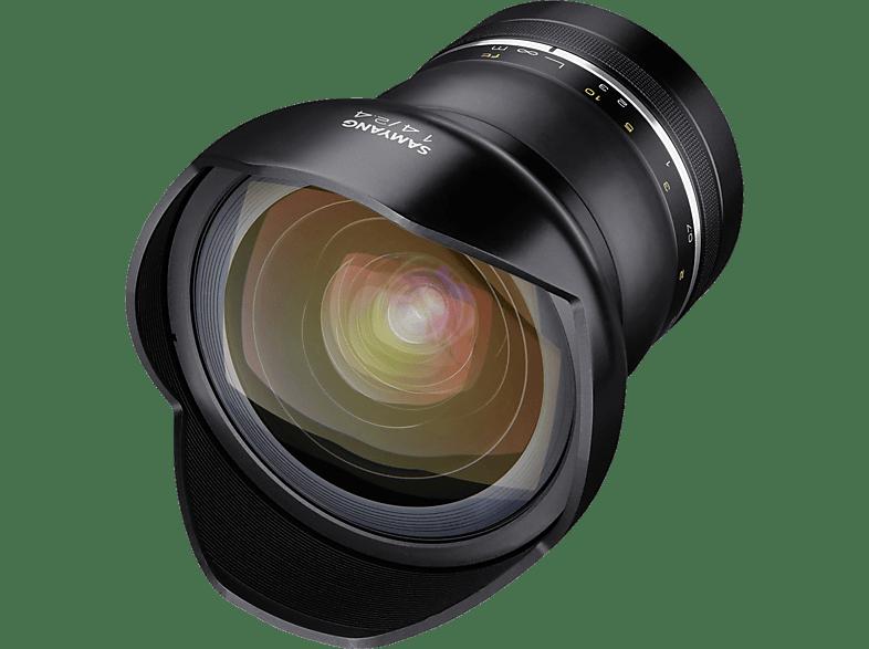 SAMYANG XP 14mm F2.4  14 mm f./2.4  (Objektiv für Nikon F-Mount, Schwarz)