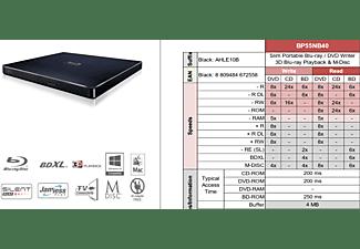 HITACHI-LG Blu-ray Brenner extern schwarz BP55EB40