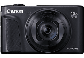 Cámara compacta - Canon PowerShot SX740 HS, 20.3 MP, Vídeo 4K, DIGIC 8, 40x, Bluetooth, Wi-Fi, Negro