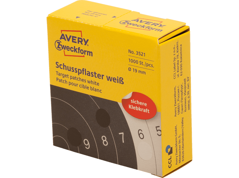 AVERY ZWECKFORM 3521