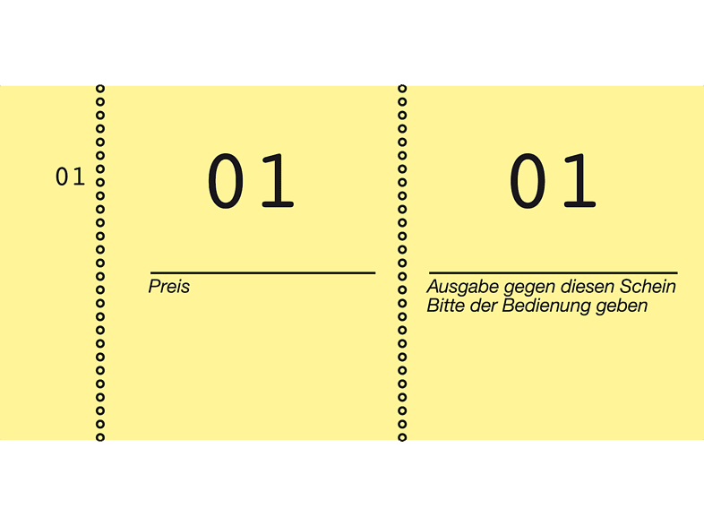 AVERY ZWECKFORM 869-10-2 Nummernblock fortlaufend nummeriert 1-1000 gelb