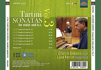 Crtomir Siskovic, Luca Ferrini - Sonaten für Violine und B.C.Vol.3  - (CD)
