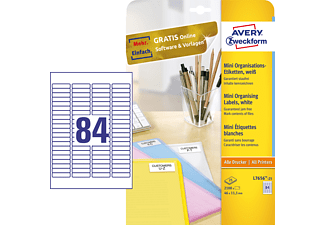 AVERY ZWECKFORM L7656-25 MINI-ORGANISATIONS-ETIKETTEN 46X11,1MM