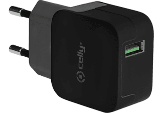 CELLY Reiselader TURBO 2,4A, USB Universal schwarz