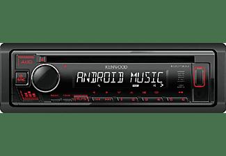 Autorradio - Kenwood KDC-130UB, 4x50W, USB, AUX, Negro/Rojo