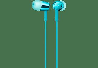 SONY MDR-EX155AP, In-ear Kopfhörer Hellblau