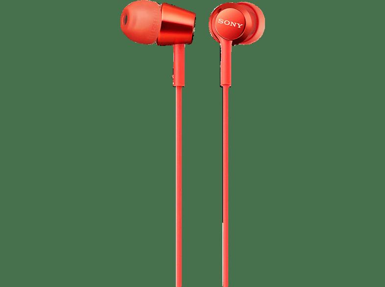 SONY MDR-EX155AP, In-ear Kopfhörer  Rot