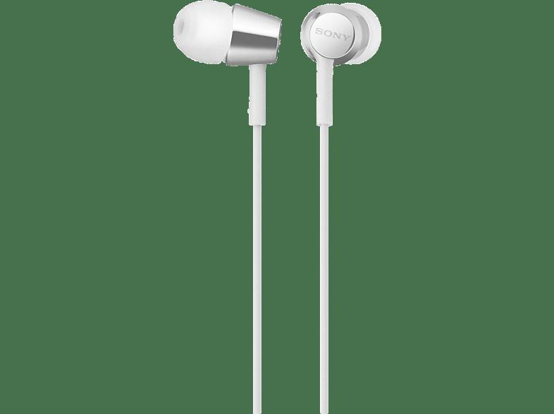 SONY MDR-EX155AP, In-ear Kopfhörer  Weiß