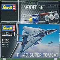 REVELL Model Set F-14D Super Tomcat Modellbausatz, Mehrfarbig