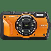 RICOH WG-6 Kompaktkamera Orange, 20 Megapixel, 5x opt. Zoom, 3 Zoll TFT-Farb Display