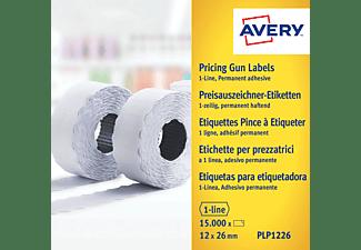 AVERY ZWECKFORM PLP1226 Preisauszeichner-Etiketten 26 x 12 mm 26 x 12 mm  15.000 Etiketten / 10 Rollen