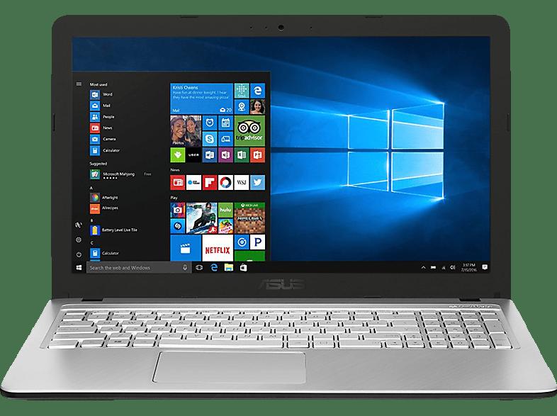 ASUS R543UA-DM1607T, Notebook mit 15.6 Zoll Display, Core™ i5 Prozessor, 8 GB RAM, 256 GB SSD, Intel® UHD-Grafik 620, Transparent Silver