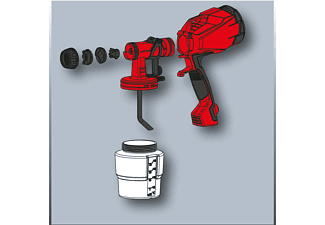 EINHELL TC-SY 400 P Farbsprühpistole, Schwarz/Rot/Weiß
