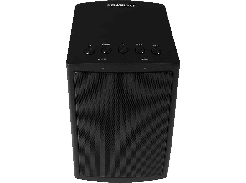 BLAUPUNKT MR-50 - Multiroom Lautsprecher (App-steuerbar, Bluetooth, 802.11 b/g/n, Schwarz)