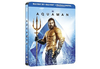 Aquaman (Edición Steelbook)- Blu-ray 3D + Blu-ray