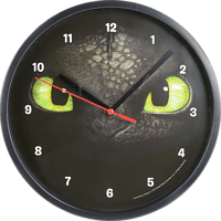 DREAMWORKS Dragons Ohnezahn Toothless Wanduhr 21,5 cm, schwarz Wanduhr, Mehrfarbig