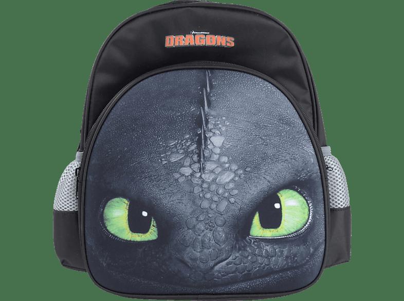 DREAMWORKS Dragons Ohnezahn Toothless Kinder Rucksack 35cm, schwarz Rucksack, Mehrfarbig