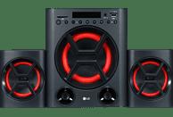 LG XBOOM LK72B Kompaktanlage (USB, SD, Schwarz/Rot)