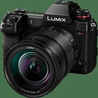 PANASONIC Lumix DC-S1R mit Objektiv Lumix S 24-105mm 4.0 Macro OIS, schwarz (DC-S1RME-K)