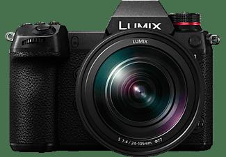 PANASONIC Lumix DC-S 1 Kit Systemkamera mit Objektiv 24-105 mm f/4, 8 cm Display Touchscreen, WLAN