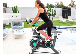 Bicicleta estática - Cecotec Extreme 20, Volante de inercia de 20Kg, Pantalla LCD, Estabilizadores
