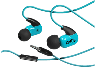 SBS Runway Ghost - Auricolare (In-ear, Nero/Blu)