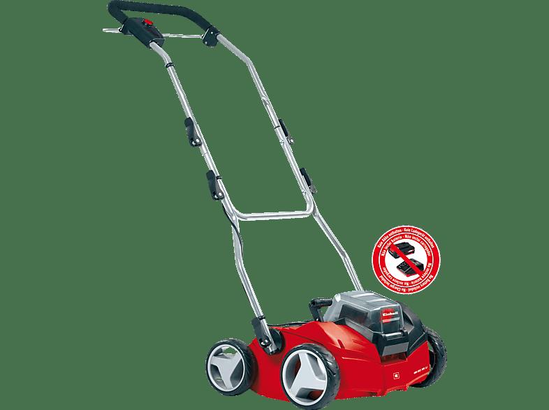 EINHELL GE-SC 35 1 Li-Solo Vertikutierer-Lüfter Schwarz Rot Silber