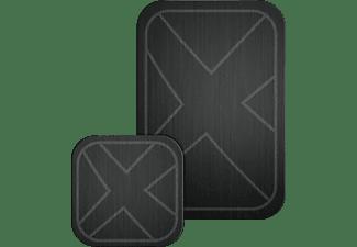 XLAYER magfix Metallplatten 2er Pack, Schwarz