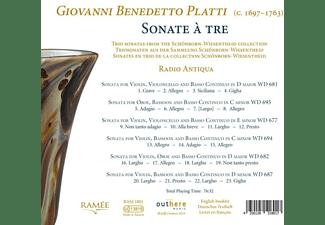Radio Antiqua - Giovanni Benedetto Platti-Sonate a Tre  - (CD)