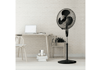 Ventilador de pie - Taurus Greco 16CR Elegance, 40 W, Altura ajustable, Negro