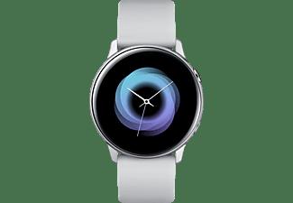 SAMSUNG Galaxy Watch Active Smartwatch Aluminium Fluorkautschuk (FKM), 111.5 mm, Silber