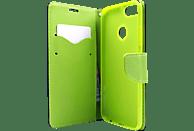 AGM 28270 Fashion Bookcover Xiaomi Mi A1 Obermaterial Kunstleder, Thermoplastisches Polyurethan Marineblau/Lime