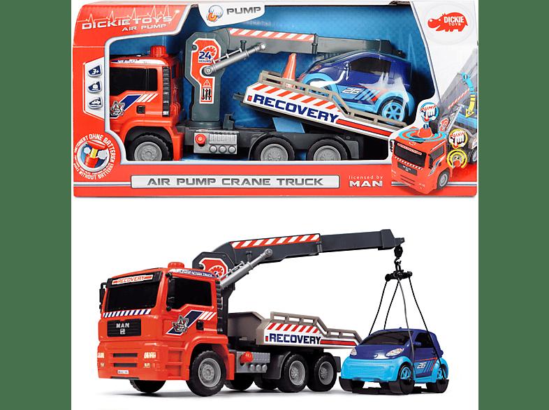 DICKIE TOYS Air Pump Crane Truck Fahrzeuge, Rot/Blau