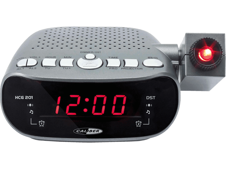 CALIBER HCG201 Radio-Uhr (FM, Grau)