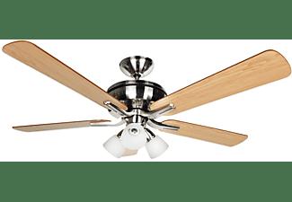 REACONDICIONADO Ventilador de techo - Orbegozo CP 68132, 65 W, 5 aspas, 3 intensidades, Mando distancia, Luz