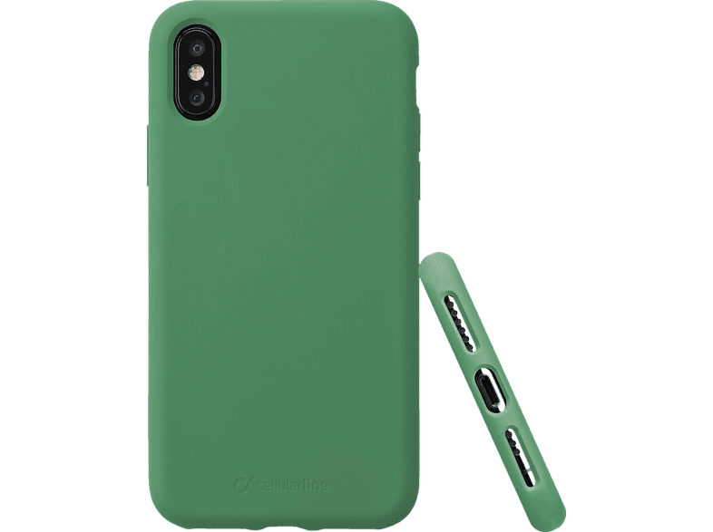 CELLULAR LINE Sensation , Backcover, Apple , iPhone Xs / iPhone X, Silikon, Grün
