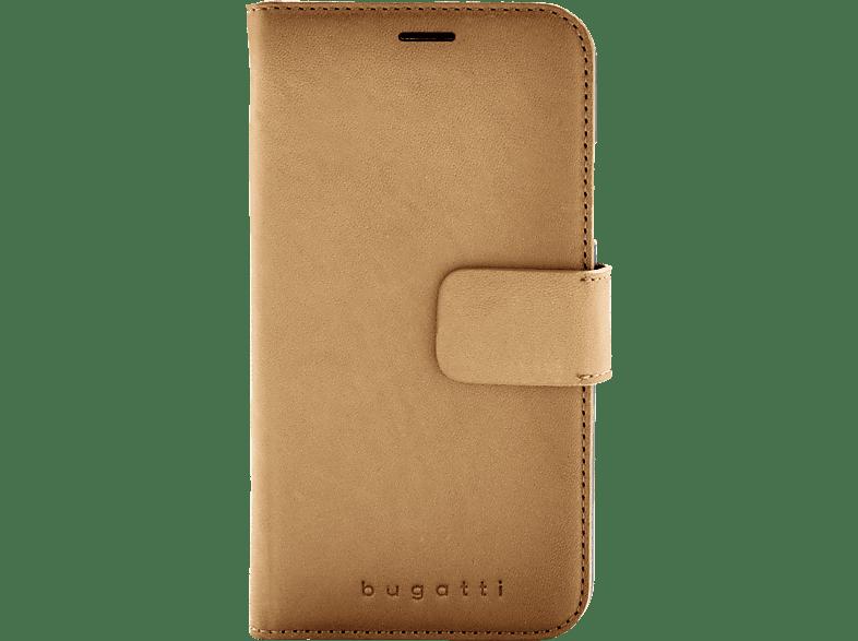 BUGATTI Londra , Bookcover, Apple, iPhone XR, 50% Polycarbonat, 50% Echtleder, Cognac