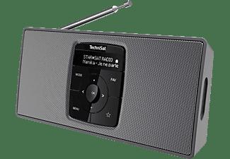 TECHNISAT DIGITRADIO 2 S Portables DAB+/UKW-Stereoradio mit Bluetooth-Audiostreaming, DAB+, UKW/RDS, Bluetooth, Schwarz/Silber