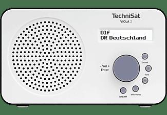 TECHNISAT VIOLA 2, weiß/schwarz Portables DAB+/UKW-Radio, DAB+, UKW/RDS, DAB+, AM, FM, Weiß/Schwarz