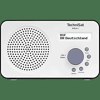 TECHNISAT VIOLA 2, weiß/schwarz Portables DAB+/UKW-Radio DAB+, UKW/RDS, Weiß/Schwarz