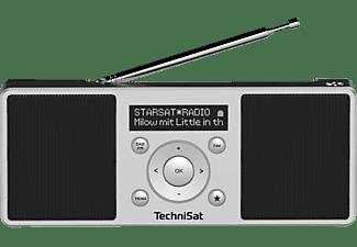 TECHNISAT DIGITRADIO 1 S Portables DAB+/UKW-Stereoradio mit integriertem Akku, Digitalradio, DAB+, FM, AM, Schwarz/Silber